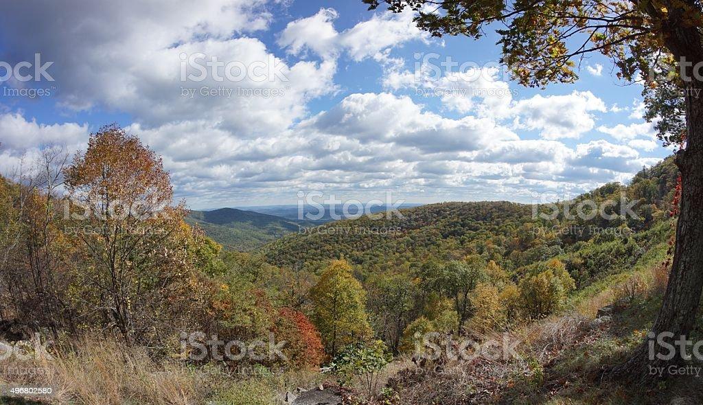 Blue Ridge Mountains in Autumn stock photo