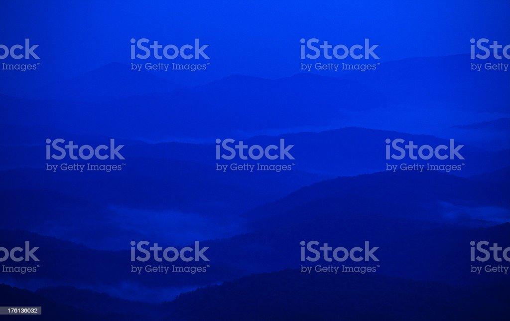 blue ridge mountains in north carolina stock photo