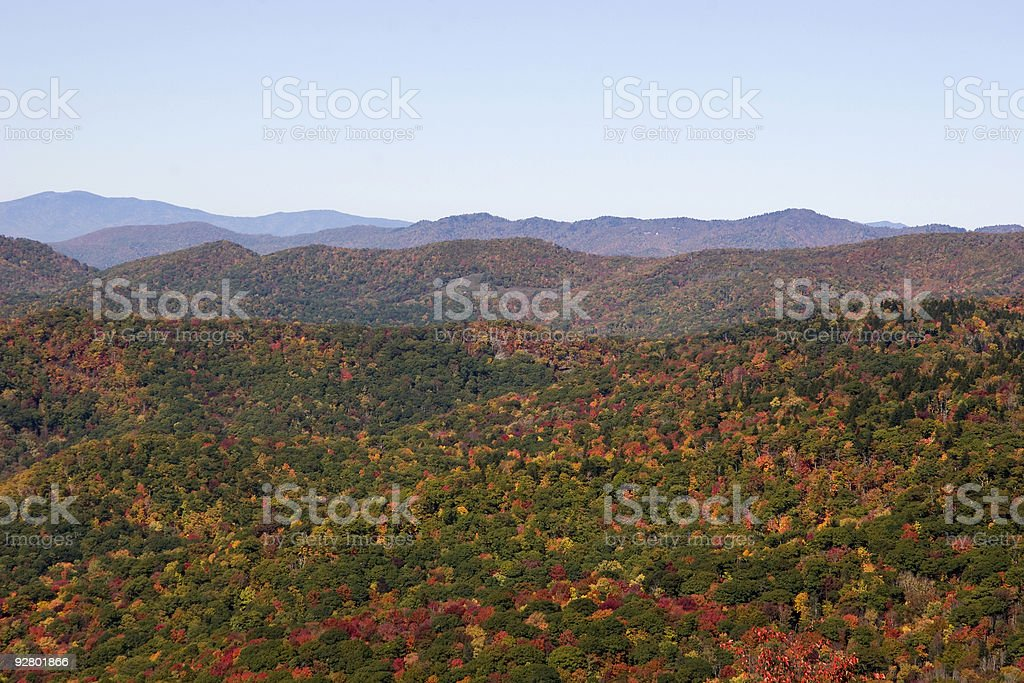 Blue Ridge Mountains in the Fall royalty-free stock photo