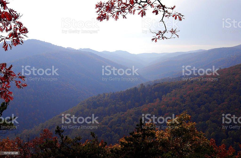 Blue Ridge mountains in Virginia royalty-free stock photo