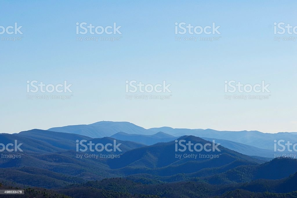Blue Ridge Mountains in Virginia stock photo