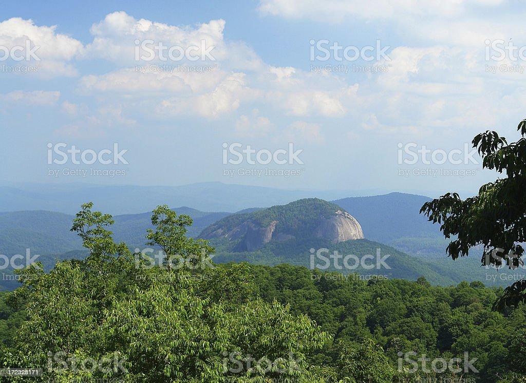 Blue Ridge Mountains - Looking Glass stock photo