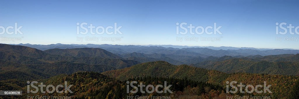 Blue Ridge Mountains Panorama in the Fall royalty-free stock photo