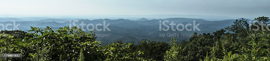 Blue Ridge mountains panorama royalty-free stock photo