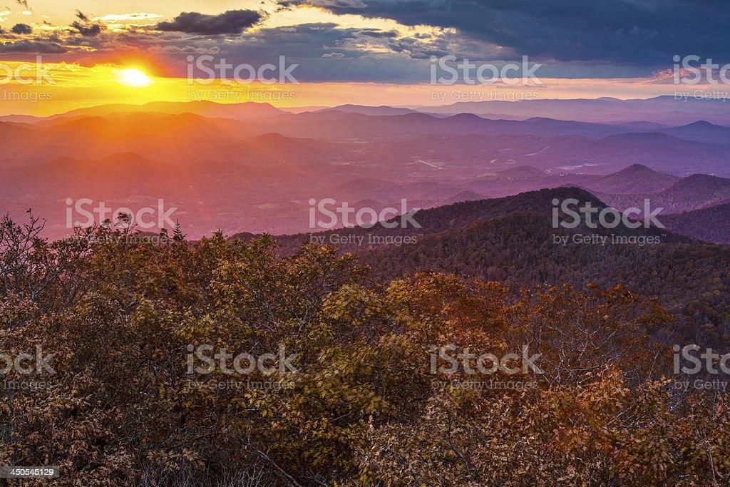 Blue Ridge Mountains stock photo