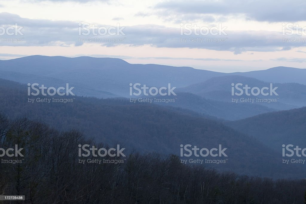 Blue Ridge Mountains - Shenandoah River Valley stock photo