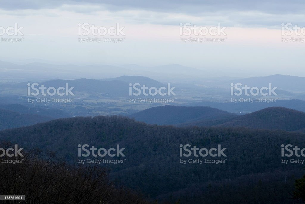 Blue Ridge Mountains - Shenandoah Valley royalty-free stock photo