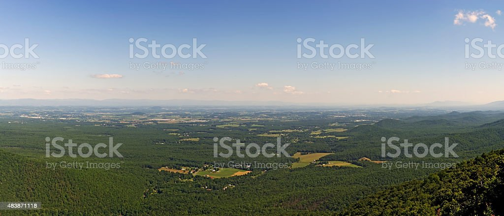 Blue Ridge Mountains View From Ravens Roost stock photo