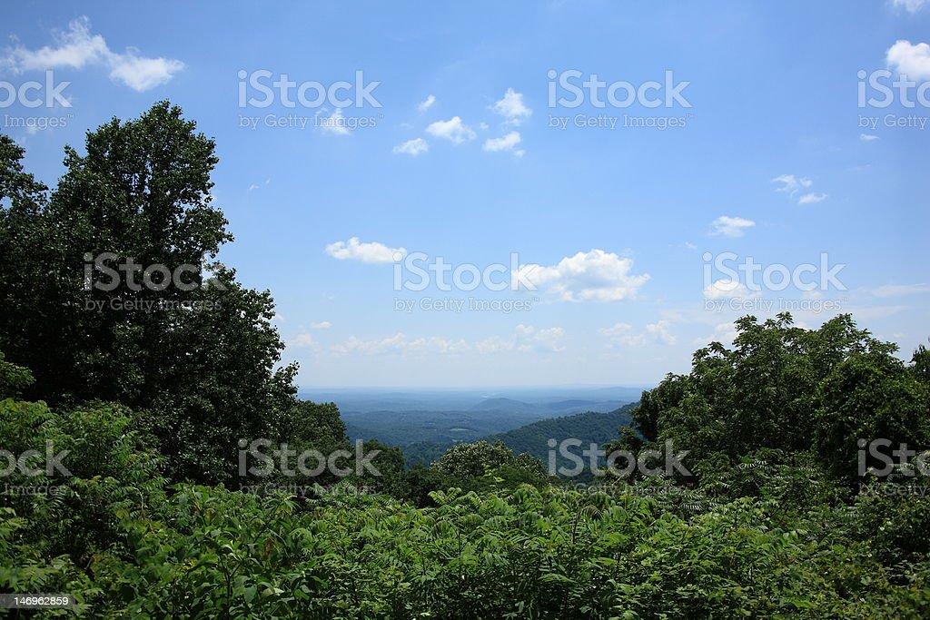 Blue Ridge Mountains - Virginia royalty-free stock photo