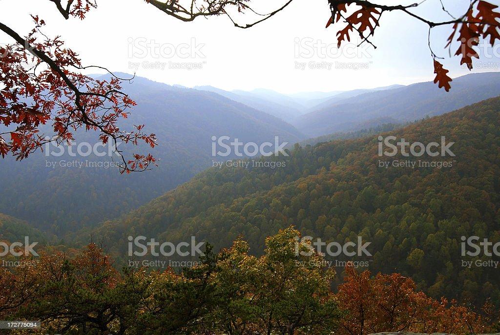 Blue Ridge mountains, Virginia stock photo
