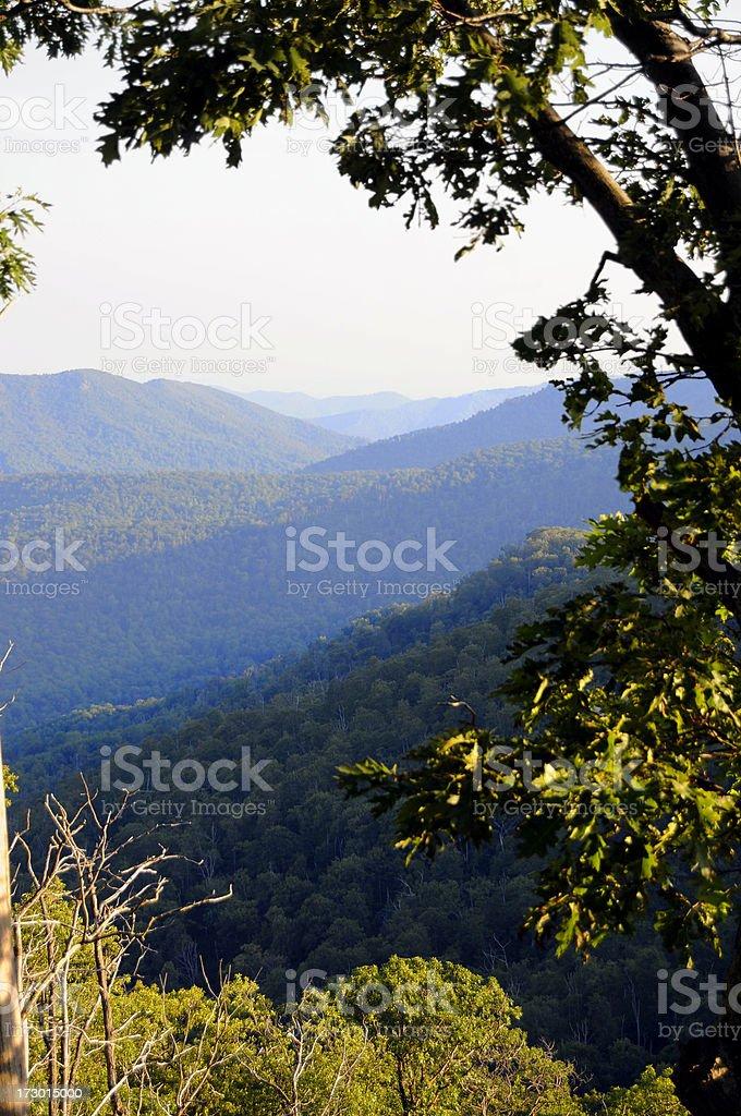 Blue Ridge mountains, Virginia, USA royalty-free stock photo