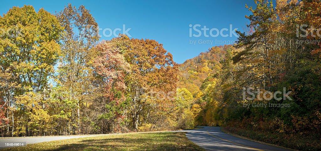 Blue Ridge Parkway, All American Road, North Carolina, USA stock photo