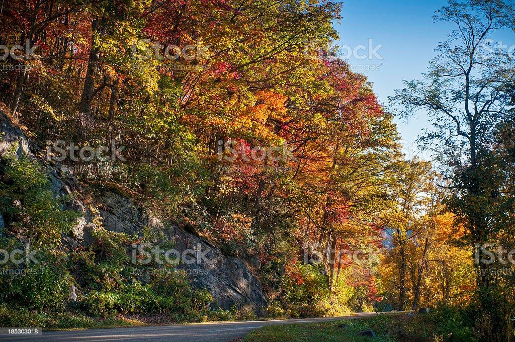 Blue Ridge Parkway, All American Road, North Carolina, USA royalty-free stock photo