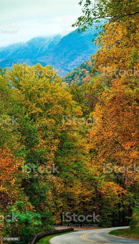 Blue Ridge Parkway, Appalachian Mountains, North Carolina, USA stock photo