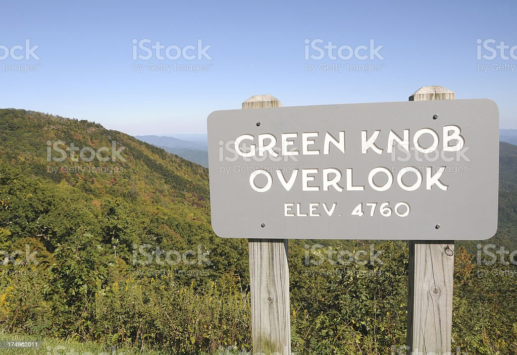 Blue Ridge Parkway, Appalachian Mountains royalty-free stock photo