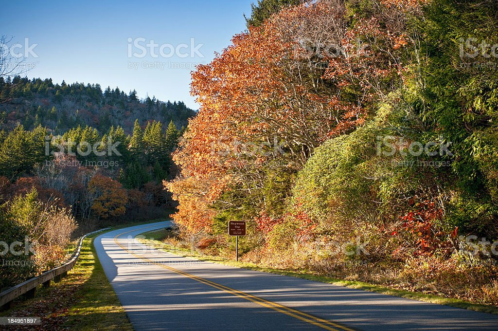 Blue Ridge Parkway, Haywoods Gap, Great Smoky Mountains, North Carolina royalty-free stock photo