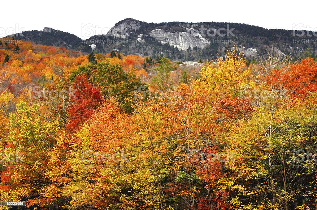Blue Ridge Parkway in fall. stock photo