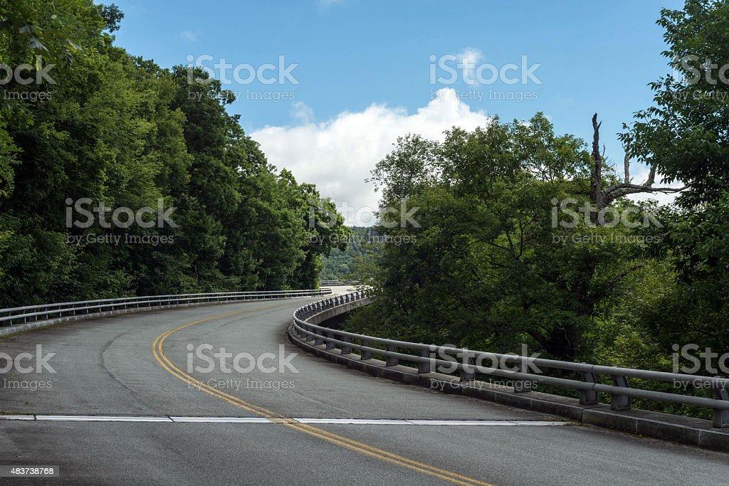 Blue Ridge Parkway in North Carolina stock photo