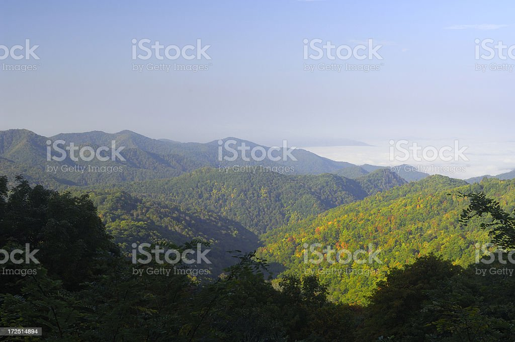 Blue Ridge Parkway in October royalty-free stock photo