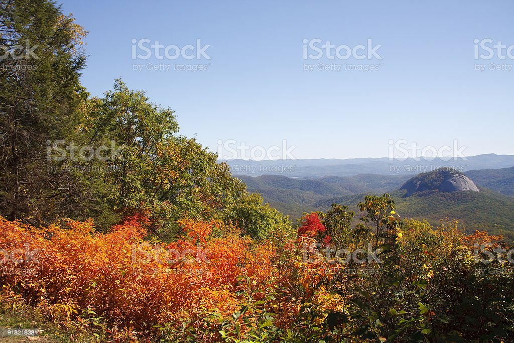 Blue Ridge Parkway in the Fall stock photo