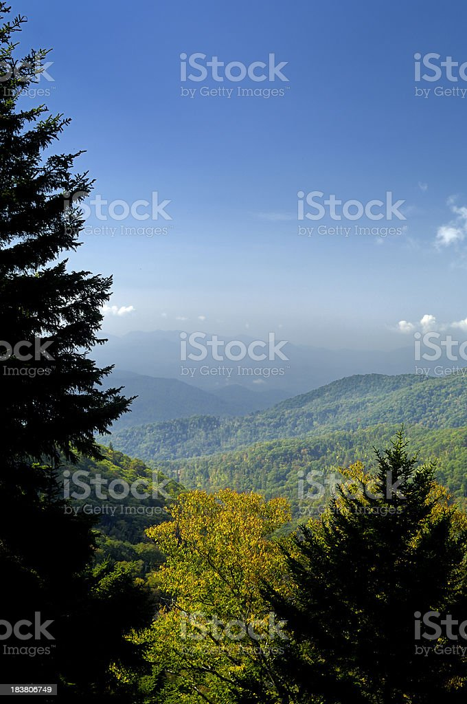 Blue Ridge Parkway National Park Autumn Scenic View, NC, USA royalty-free stock photo