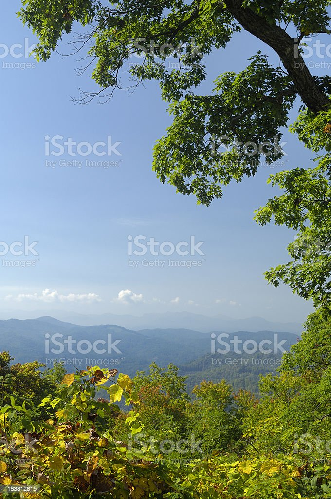 Blue Ridge Parkway National Park Autumn Scenic View, NC, USA royalty-free stock photo