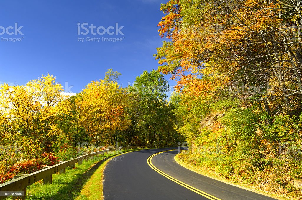 Blue Ridge Parkway National Park Autumn Scenic View royalty-free stock photo