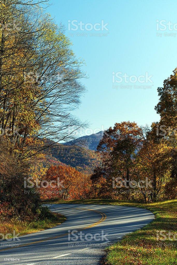 Blue Ridge Parkway, North Carolina, USA stock photo