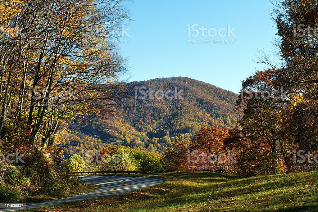 Blue Ridge Parkway. North Carolina, USA royalty-free stock photo