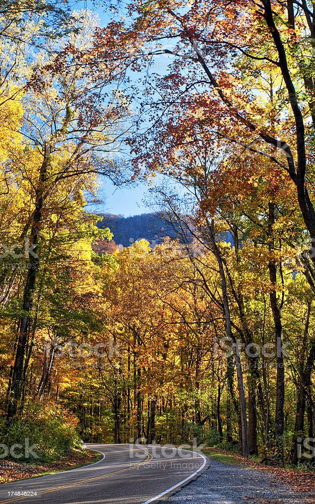 Blue Ridge Parkway, North Carolina, USA stock photo
