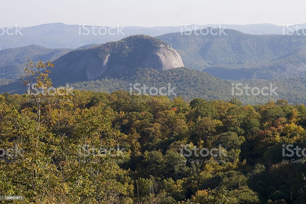 Blue Ridge Parkway Overlook of Looking Glass Rock stock photo