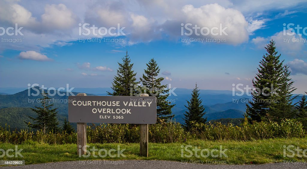 Blue Ridge Parkway Overlook stock photo
