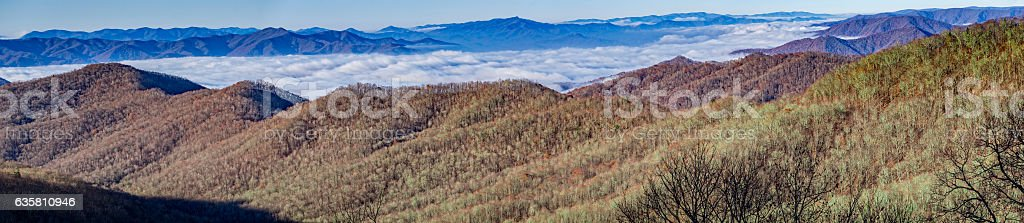 Blue Ridge Parkway Panorama stock photo