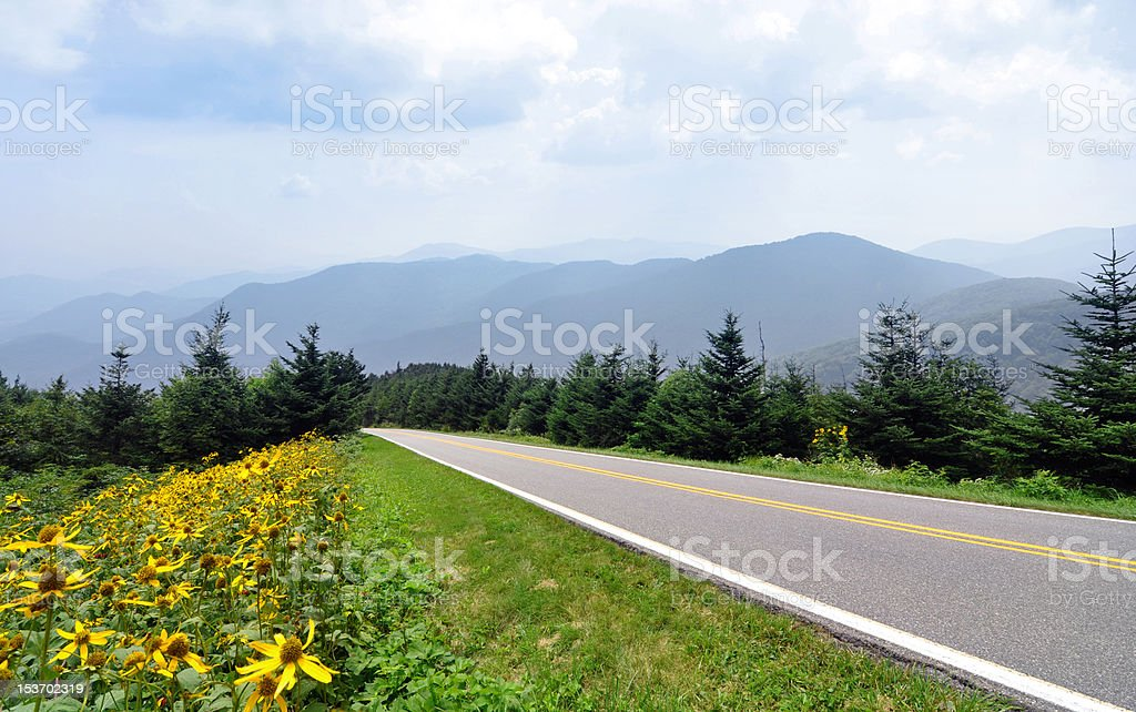 Blue Ridge Parkway stock photo