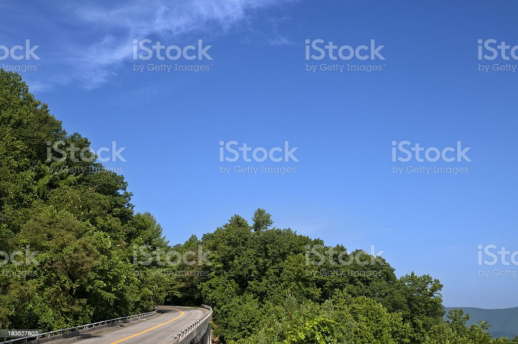 Blue Ridge Parkway royalty-free stock photo