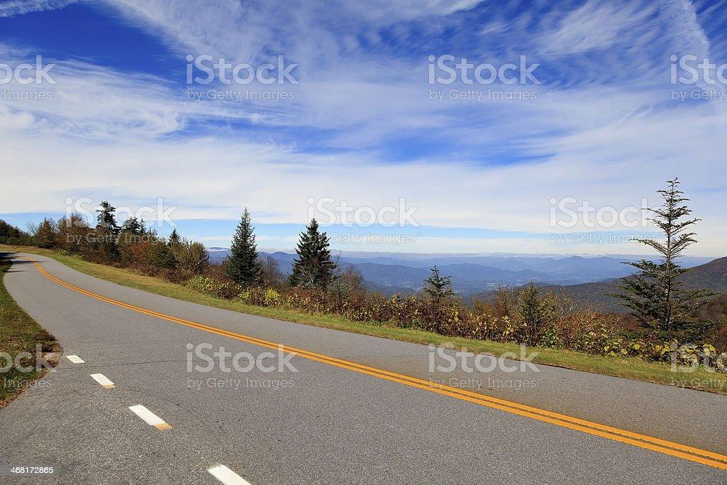 Blue Ridge Parkway Road stock photo