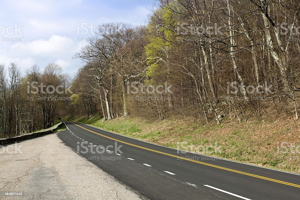 Blue Ridge Parkway Scenic Mountain Highway royalty-free stock photo