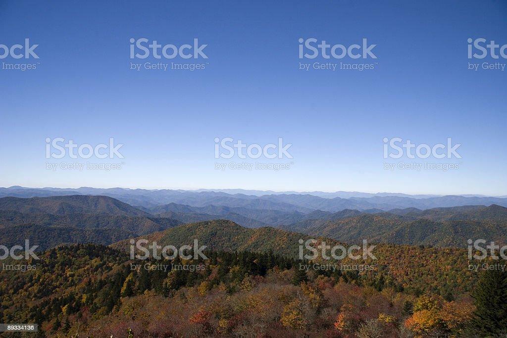 Blue Ridge Parkway View royalty-free stock photo