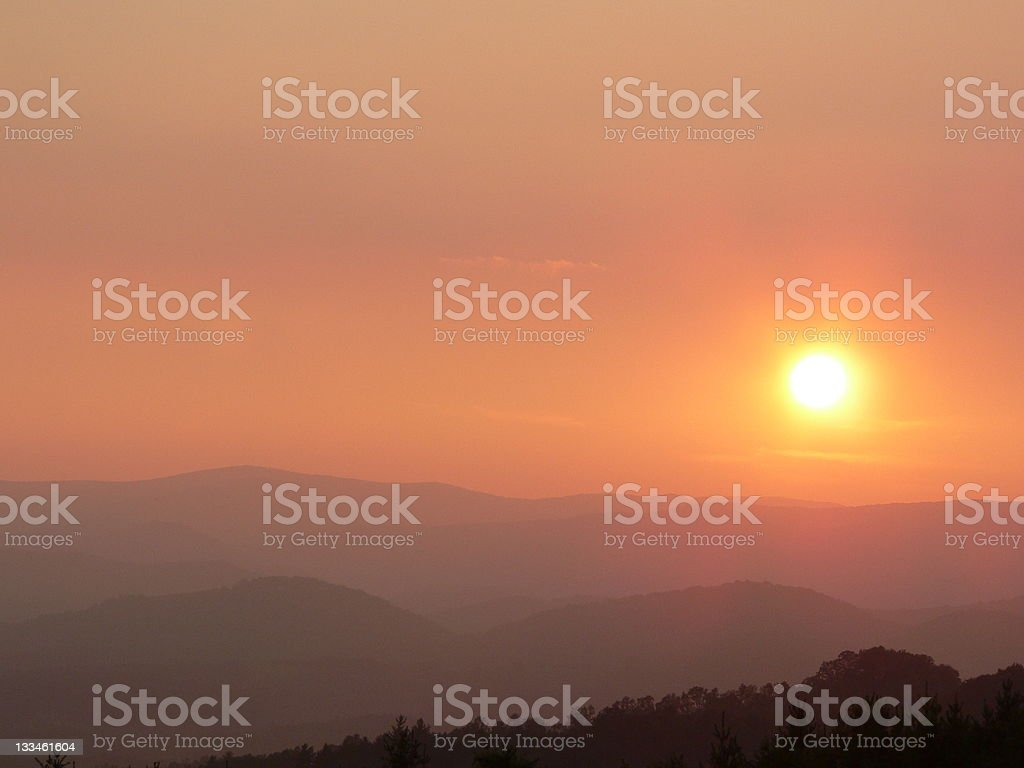 Blue Ridge Summer Sunset royalty-free stock photo