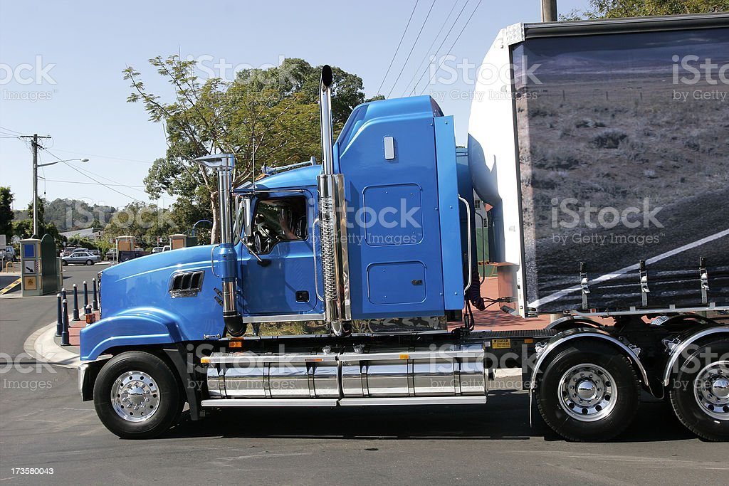 Blue Rig stock photo