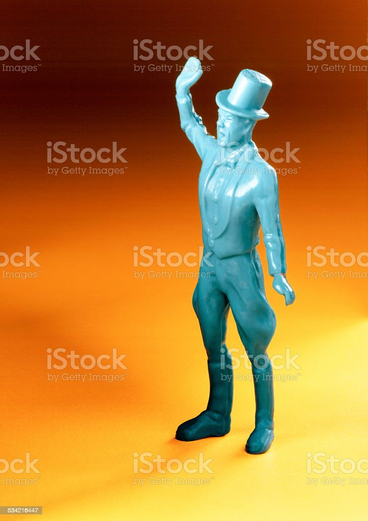 Blue Ringmaster in Top Hat stock photo
