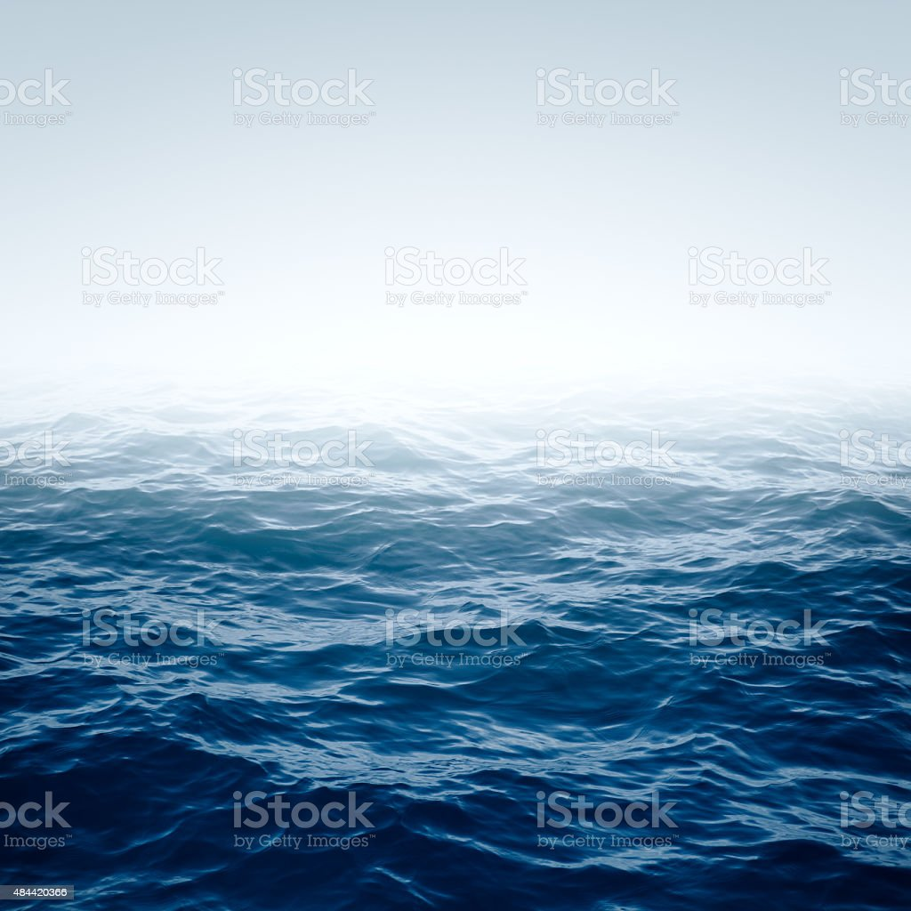 Blue Rippled Ocean stock photo