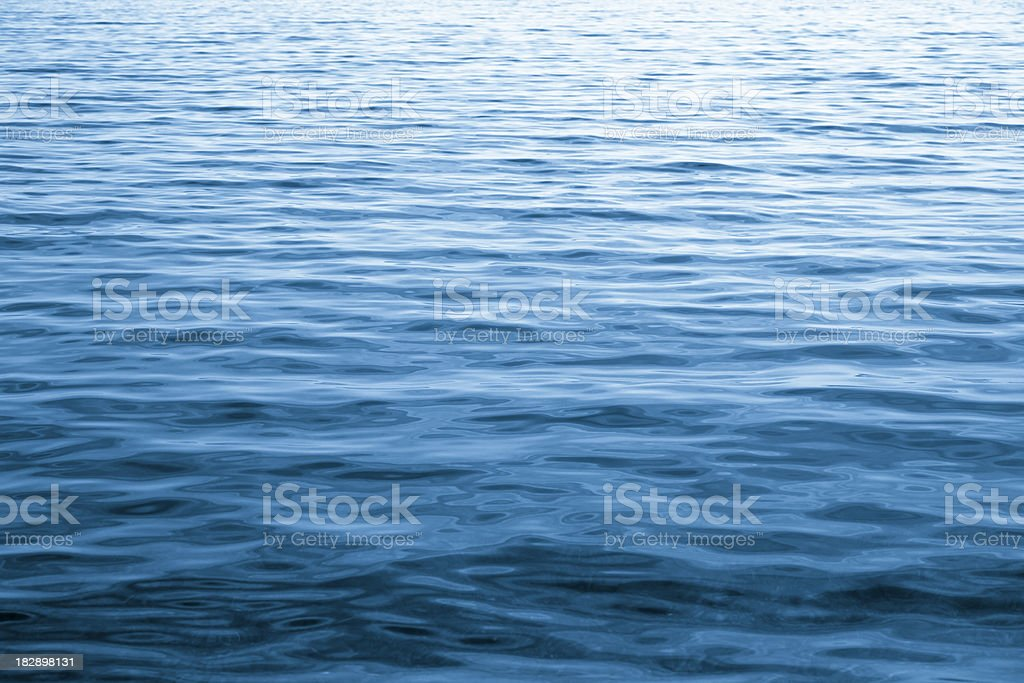 Blue Rippled Water stock photo