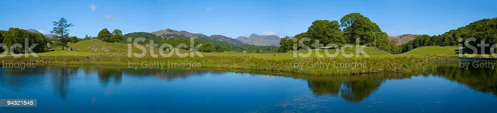 Blue river panorama royalty-free stock photo