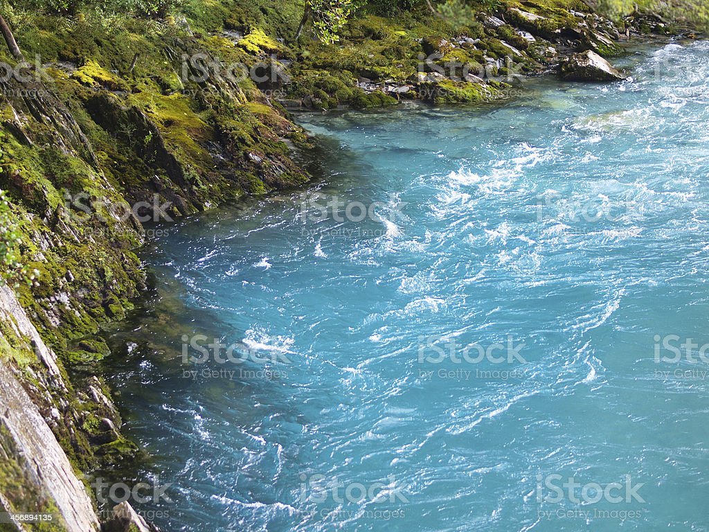 Blue river stock photo