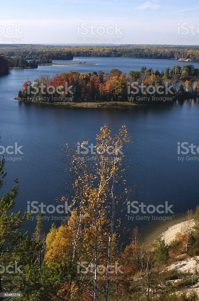 Blue River royalty-free stock photo