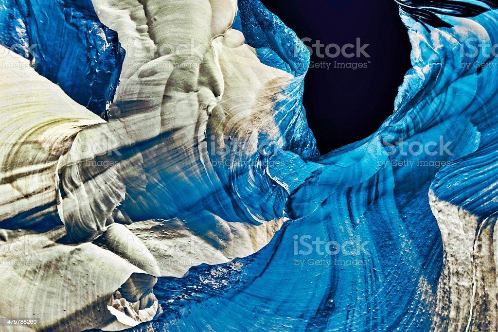 blue rock stock photo