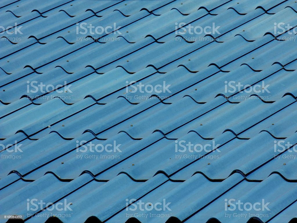 Blue roof background stock photo