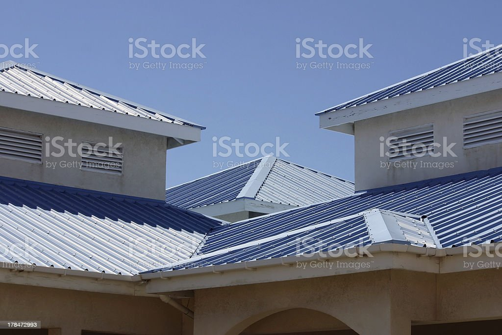 Blue Rooftops stock photo