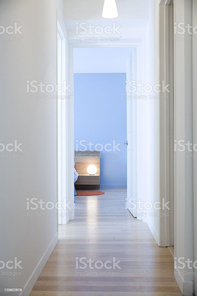 Blue room royalty-free stock photo